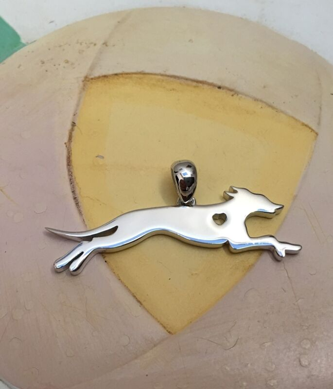 Italian Greyhound Sterling Silver Charm - New - FREE SHIPPING