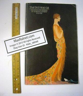 David Schaff THAT RED HEAD GAL Fashions Designs of Gordon Conway 1916-1936 ART