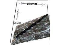 BLACK MARBLE 1M X 2.4M X 10MM WETWALL , SHOWER WALL , PVC WALL PANELS FOR BATHROOM AND KITCHEN ETC