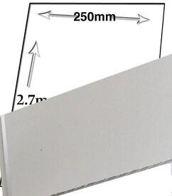 4 x white gloss 1 strip pvc cladding decorative wall panels and ceilling panels