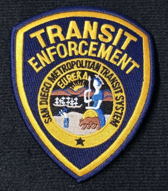 San Diego Transit Enforcement CA Police Patch Sheriff