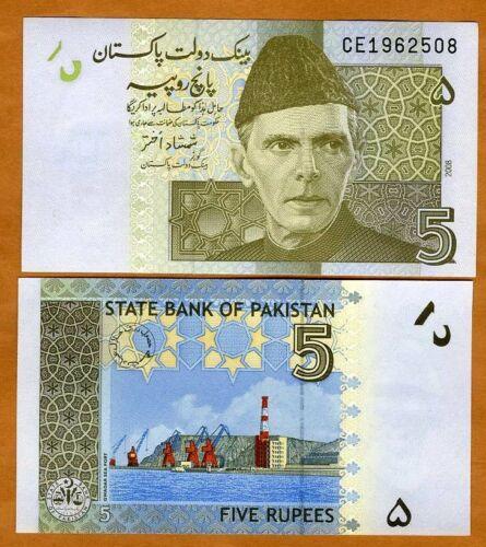 Pakistan, 5 Rupes, 2008, P-53a UNC