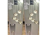 Reduced! Next Brand New Sealed Petra Cluster Light x2