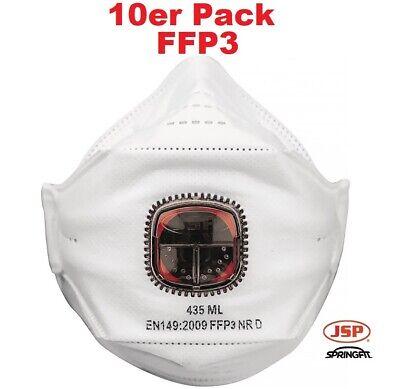 10 Stück Springfit™ Atemschutzmaske FFP3 mit Ausatemventil - Mundschutz Maske