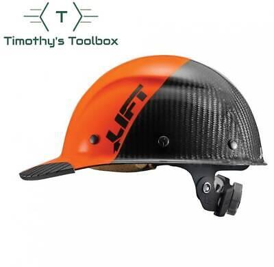Lift Safety Dax 5050 Carbon Fiber Cap Hard Hat Orange-black