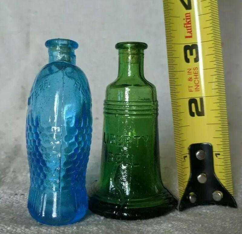 Liberty Bell & Bitter Fisch Vintage Miniature Glass
