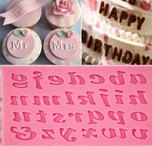 1PC Silicone Alphabet Letter Trays Chocolate Mold Cake Fonda