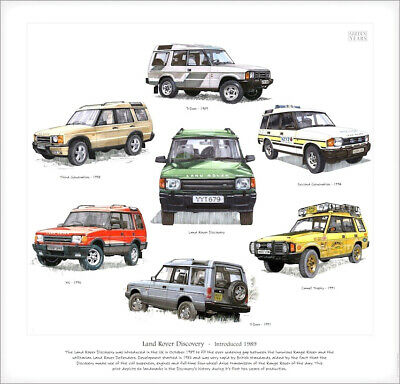 LAND-ROVER DISCOVERY - Fine Art Print - Camel Trophy 2nd 3rd Generation XS