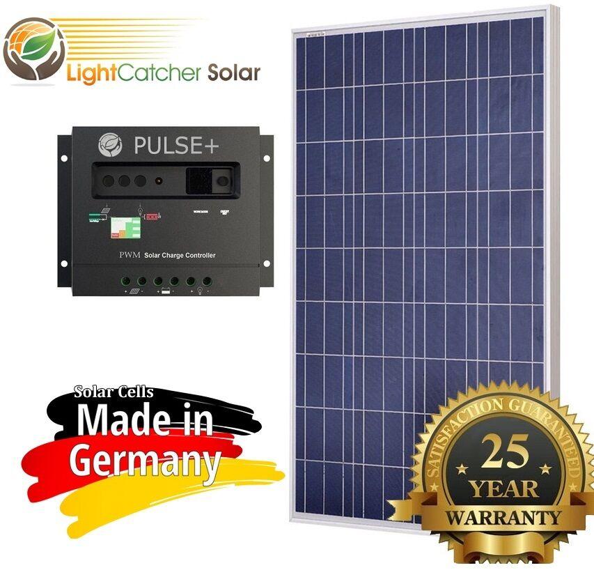 100 Watt 100W Solar Panel Kit with Solar Charge Controller 1
