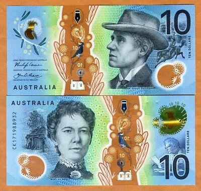 Australia   10  2017  P New  Polymer Unc   Redesigned