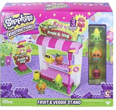 ns Shopping Pack Fruit and Veg Stand Building Set New xmas (Shopkins Shopping)