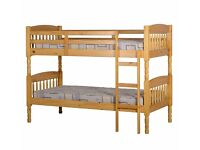 Very nice Brand New Antique Pine Bunk Bed - Solid Wood - 3ft. can deliver