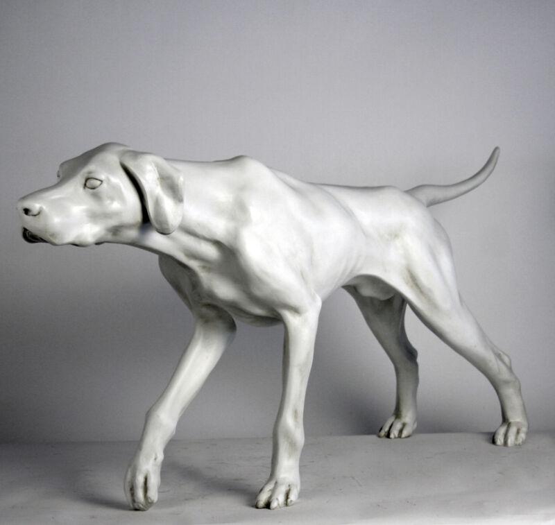"Life-size Pointer Dog sculpture statue 51"""