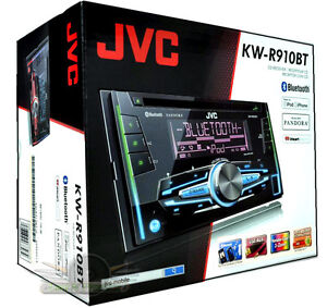 jvc kw r910bt double din bluetooth cd mp3 usb aux fm new. Black Bedroom Furniture Sets. Home Design Ideas