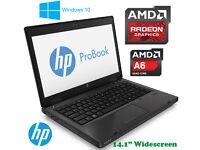 May Deliver - HP ProBook Gaming Laptop - AMD QuadCore - Radeon HD 7520G - Win 10 64Bit - 320Gb