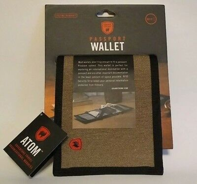Grand Trunk ATOM Collection Passport Wallet w/RFID Security Strip, Sahara - NWT