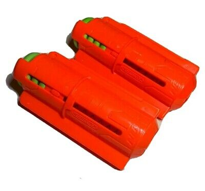 2 Nerf Gun Vortex 10 Disc Orange/Red Magazine clips + Disk Pyragon Praxis Nitron