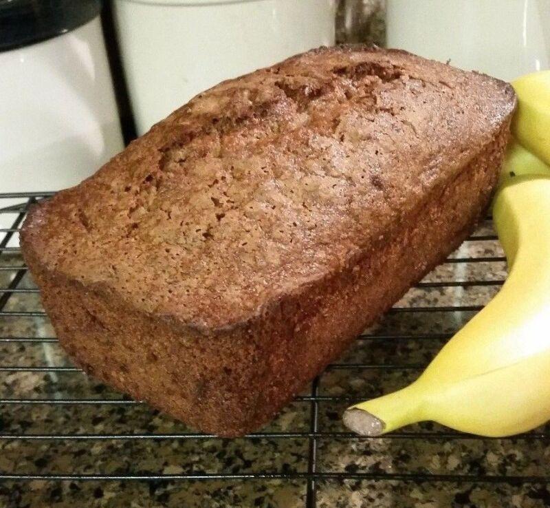 Gluten Free Banana Nut Bread - Lactose Free!