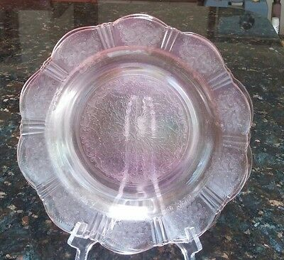 "4 Dinner Plates 9 3/4"" Pink American Sweetheart Macbeth Evans Depression Glass"