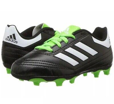 25f4ee34d ADIDAS Kids Soccer Cleats Goletto VI FG J Black Neon Green Size US 2 BB0570  NEW