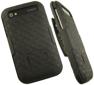 BLACK KICKSTAND HARD CASE COVER + BELT CLIP HOLSTER FOR BLACKBERRY CLASSIC Q20 Hard Case Cover Blackberry