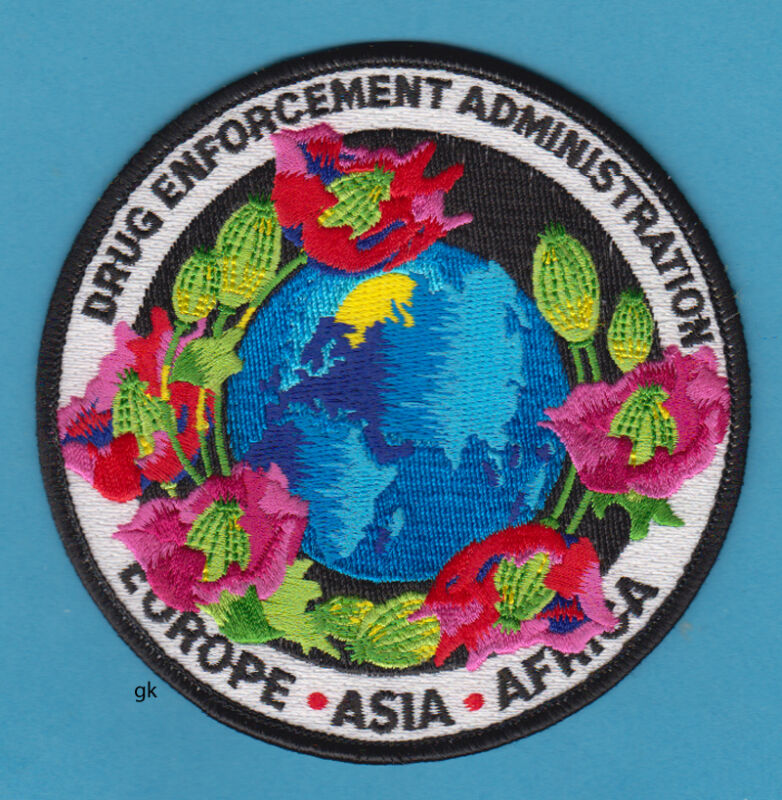 DEA EUROPE ASIA AFRICA DRUG ENFORCEMENT PATCH