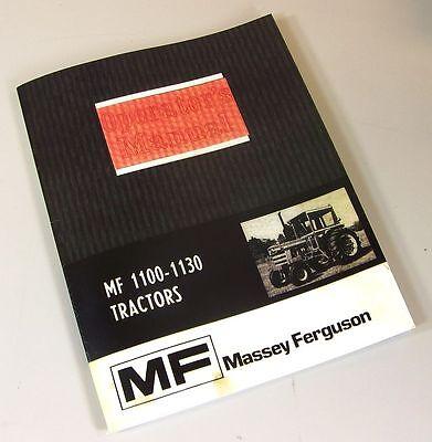 Massey Ferguson Mf 1100 1130 Tractor Owners Operators Manual Maintenance Book