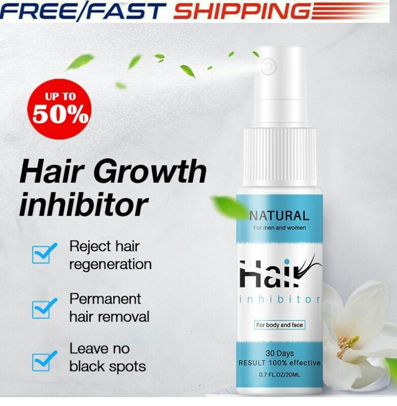 100 Natural Permanent Hair Removal Spray Hair Growth Inhibitor