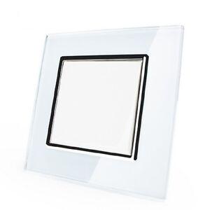 Escobilla-Interruptor-de-pared-basculante-Un-Con-Marco-cristal-vl-c7-k1-11