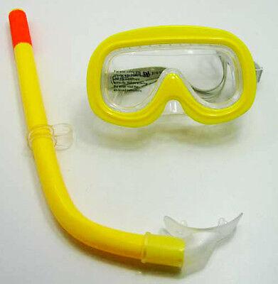 Schnorchelset für Kinder von 3-6 Jahren 2 tlg., Schnorchel Taucher Brille, gelb