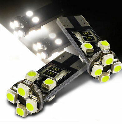 Pop ERROR FREE CANBUS 8 SMD LED XENON HID WHITE W5W T10 501 SIDE LIGHT BULB%%