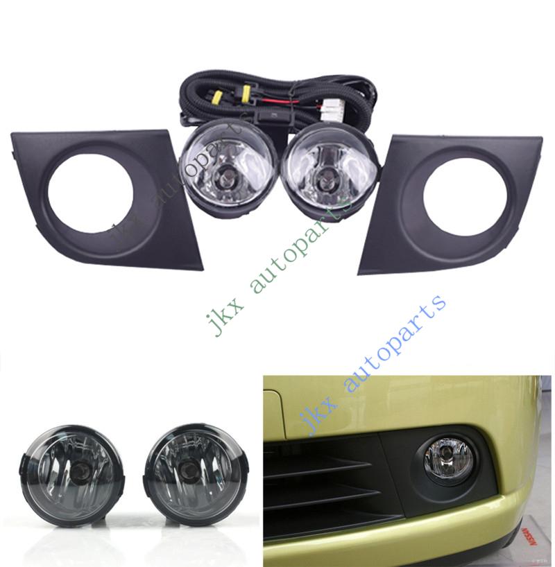 Bumper Driving Light Fog Lamp Wiring Kit For Nissan Tiida