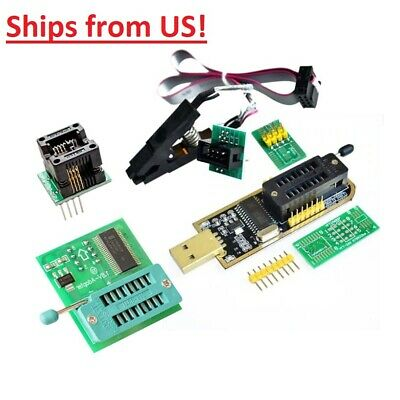 1.8v Adapter 2425 Series Usb Programmer Soic8 Clip Eeprom Bios Writer Ch341a Us