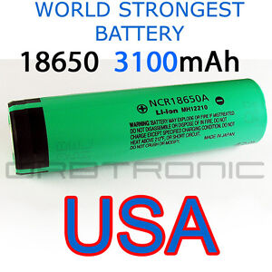 3100mAh-Panasonic-18650-Rechargeable-Li-ion-Battery-NCR18650A-Cell-Made-in-Japan