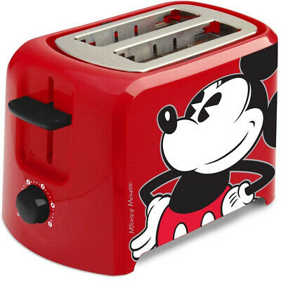 Disney Mickey Mouse 2 Slice Toaster Leaves Mickey Imprint Kitchen Cooking