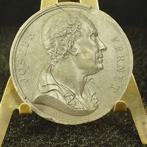 Médaille grès XIX Claude Joseph Vernet peintre, dessinateur par Petit Medal - France - Type: Médailles franaises Métal: Grs - France