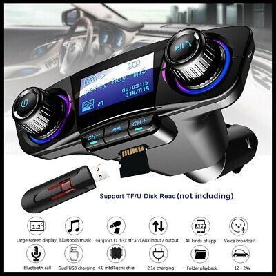 Car Bluetooth FM Transmitter MP3 Player Radio Adapter Handsfree Support TF Card