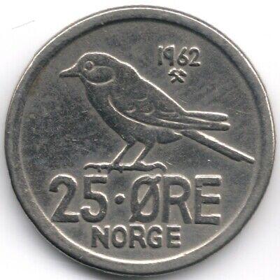 Norway : 25 Ore 1962
