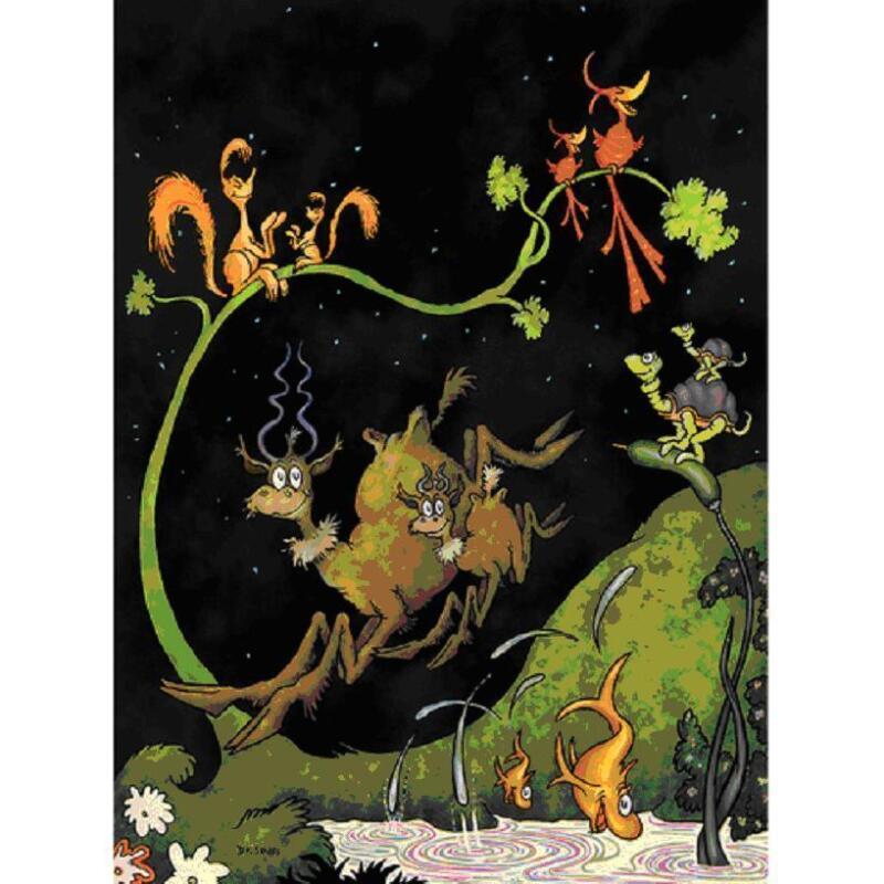 "Dr Seuss  Theodor Geisel    ""after Dark In The Park""     Make  Offer Sj"
