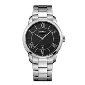 *NEARLY NEW* Hugo Boss Gents Classico Watch - Stainless Steel & Black Dial