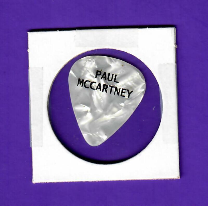 Paul McCartney Guitar Pick New York Summer 2017