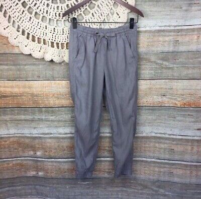 Point Sur Size 0 J.Crew Seaside Gray Linen Tencel Pants