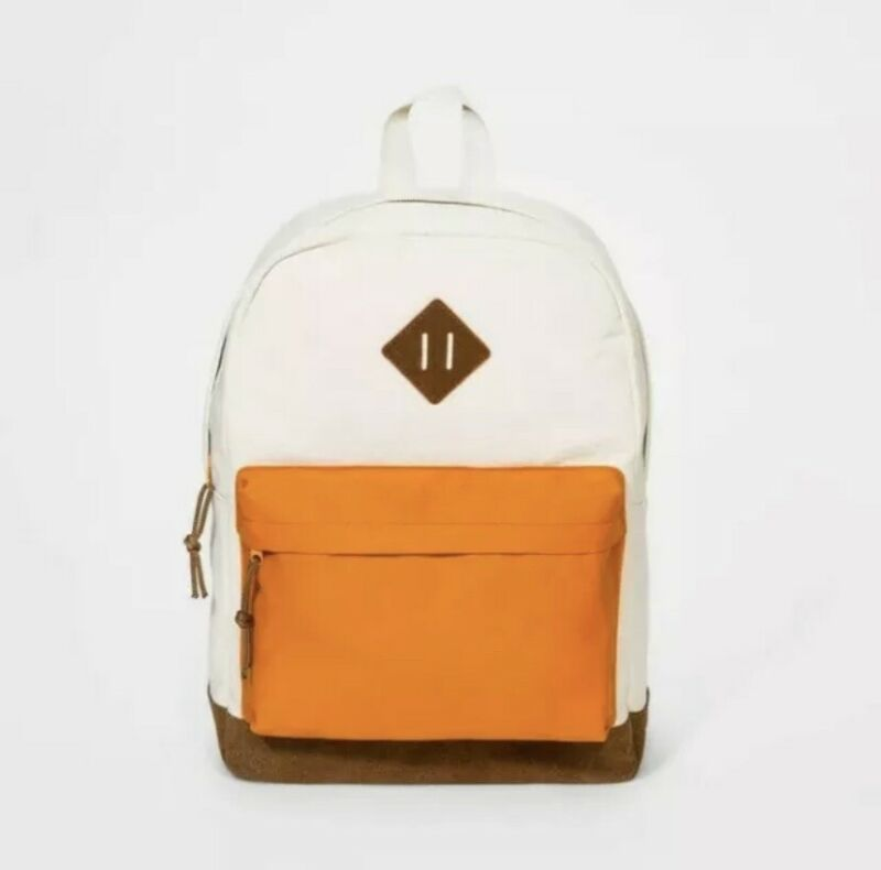Children's Backpack! Tan & Orange! Target Brand Cat And Jack! Herschel Heritage