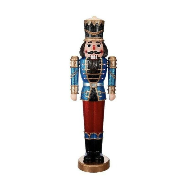 """Nutcracker Lifesize LED w/ SOUND Indoor/Outdoor Christmas 68"""" Tall"""