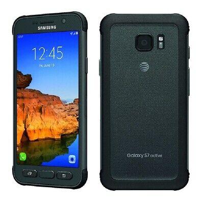 Samsung Galaxy S7 Active 32gb Titanium Gray AT&T Unlocked LCD Lines Discounted!