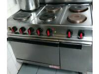 6 ring commercial cooker