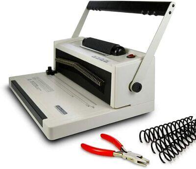 S20a Coil Punch Binding Machine Free Crimper 8mm Plastic Coils Box Of 100pcs