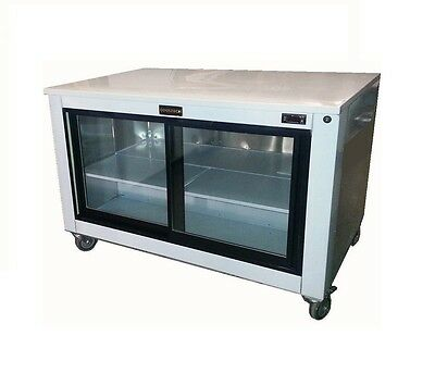 Cooltech Sliding Glass Doors Back Bar Worktop Display Cooler 48