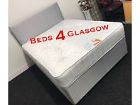 Grey Single,double or kingsize Divan bed with mattress