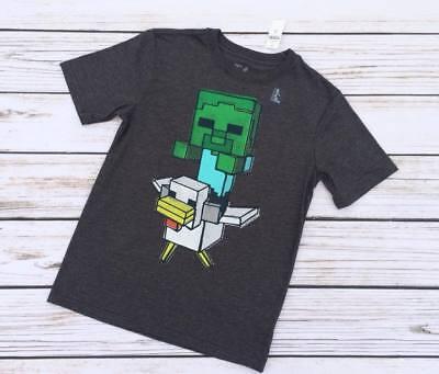 NWT Gap Kids Youth Boys Size XL 12 Creeper Duck Minecraft Tee Shirt Gray Gaming (Minecraft Duck)